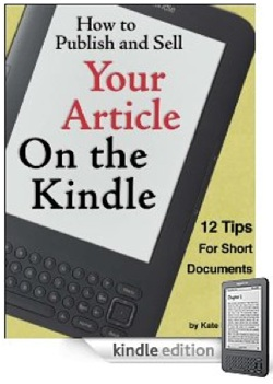 How to Publish Your Article on the Kindle Ebook
