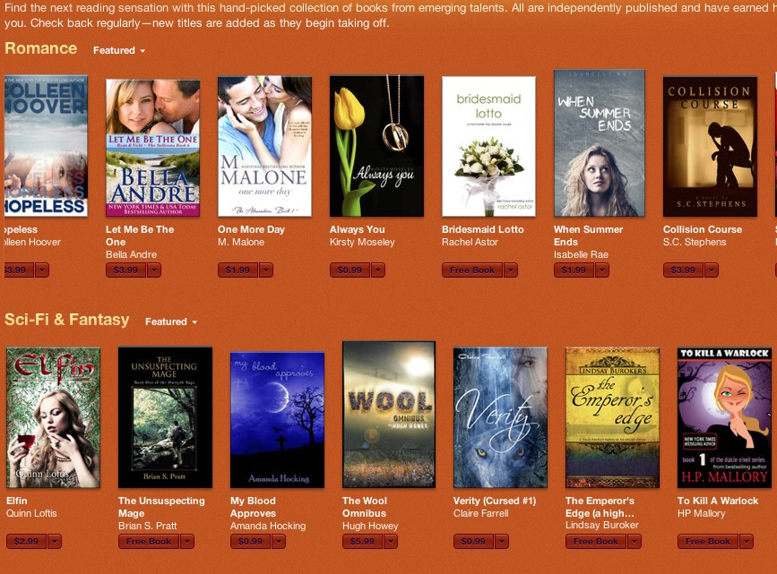 iTunes Breakout Books
