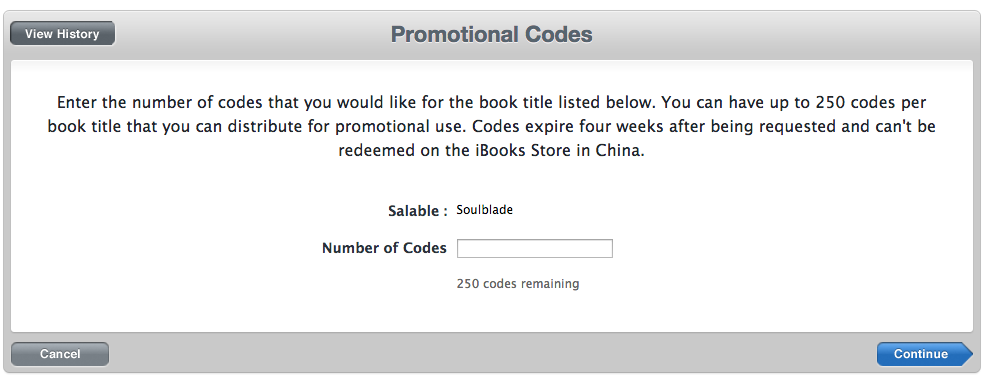 Promo Codes for iBooks